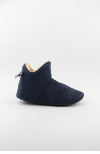 Chaussons Pour Femme Bleu Marine 3581.MM LACIVERT