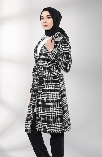 معطف طويل أسود 5338-01
