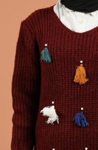 Claret red Sweater 1198-07