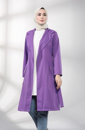 Lila Trench Coats Models 1236-03