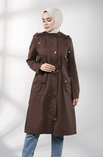 Brown Trench Coats Models 1884-04
