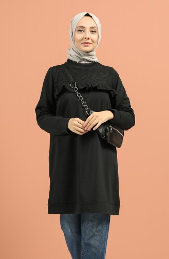 Frilly Lace Sports Tunic 8276-01 Black 8276-01