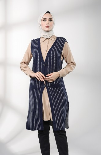 Navy Blue Waistcoats 4118-04