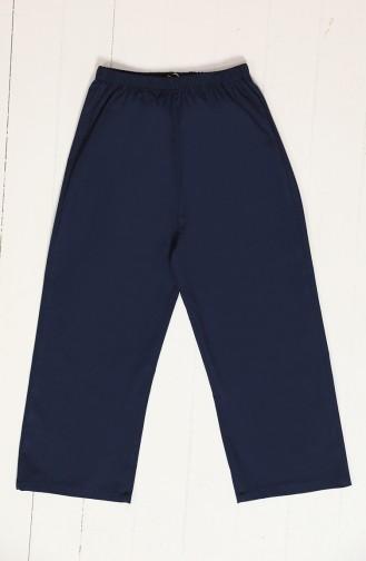 Children Pants with wide Leg Elastic 25080-04 Dark Navy Blue 25080-04