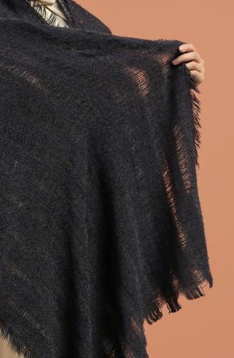 Transparan Yün Triko Omuz ve Boyun Şalı 43300-09 Lacivert