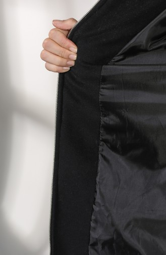 BURUN Furry Cachet Coat 71187-01 Black 71187-01