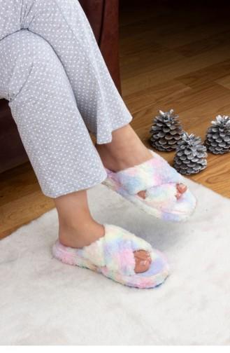 Turquoise Woman home slippers 3576.MM SARI-TURKUAZ