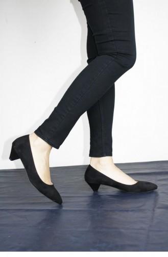 Chaussures a Talons Noir 00259.SIYAHSUET