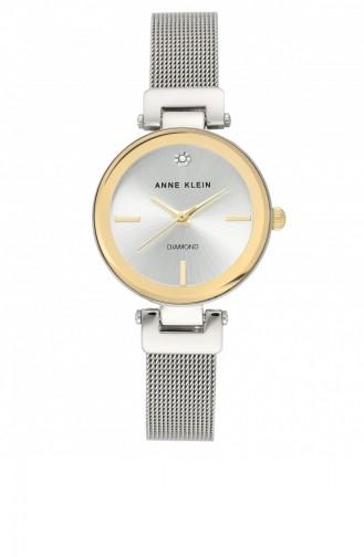 Silver Gray Wrist Watch 3035SVTT