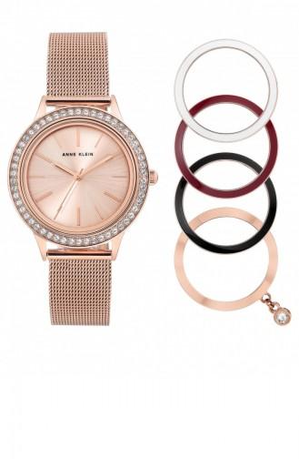 Rose Tan Wrist Watch 3166INST