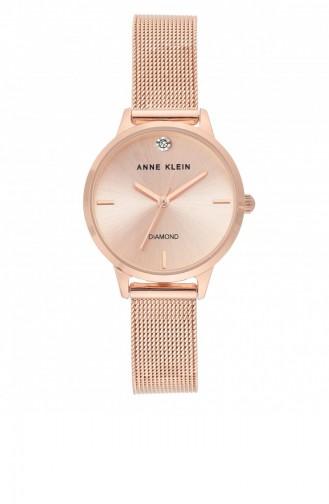 Rose Tan Wrist Watch 3546RGRG
