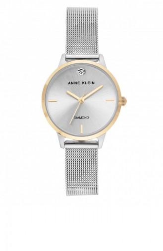 Silver Gray Wrist Watch 3547SVTT