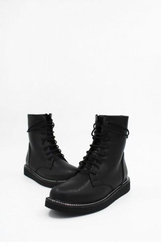 Black Boots-booties 00174.SIYAH