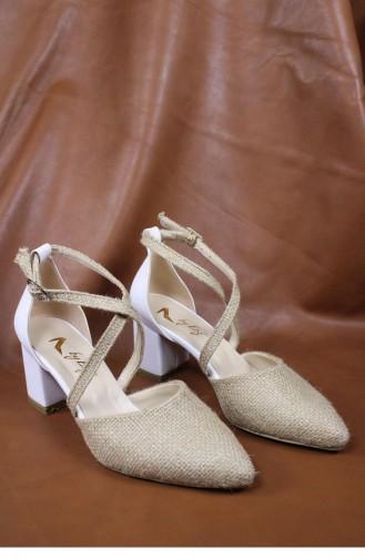 Chaussures a Talons Blanc 00429.BEYAZCILT