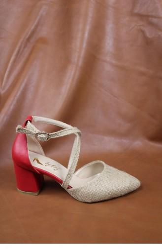 Red High-Heel Shoes 00429.KIRMIZICILT