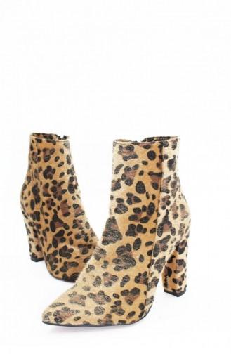 Brown Boots-booties 00221.LEOPAR