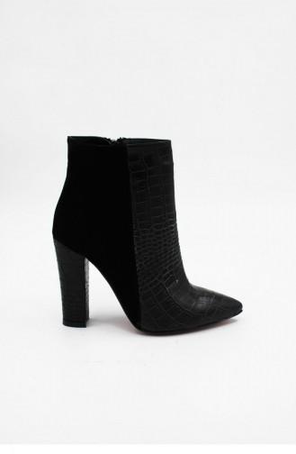 Black Boots-booties 00221.SIYAHSUETKROKO