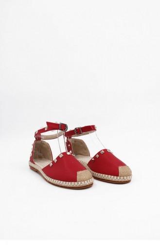 Sandales D`été Rouge 00124.KIRMIZI