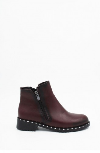 Claret Red Boots-booties 00141.BORDO