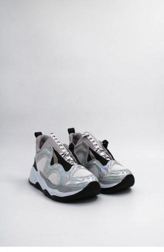 Silver Gray Sneakers 00142.GUMUS