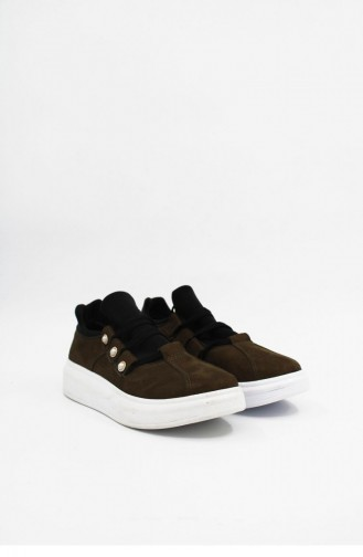 Erz124 İnci Detaylı Sneaker Brlerz00163 Hakı
