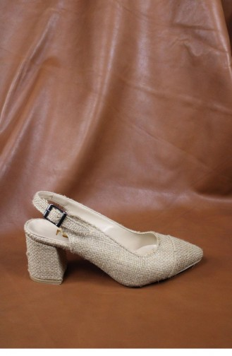 Chaussures a Talons Beige 00017.HASIR