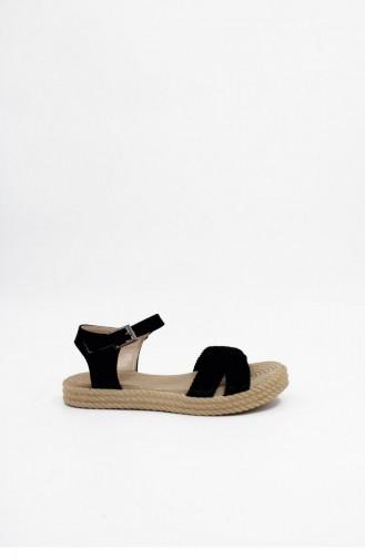 Black Summer Sandals 00024.SIYAH
