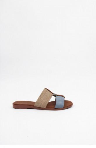 Blue Summer Slippers 00025.MAVI
