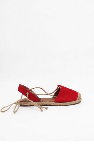 Red Summer Sandals 00049.KIRMIZI