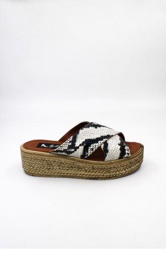 Black Summer Slippers 00050.YILAN