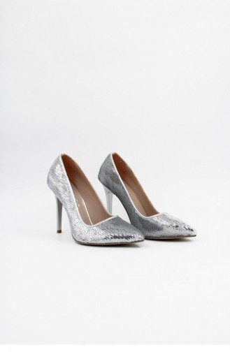 Silver Gray Heeled Shoes 00006.GUMUS