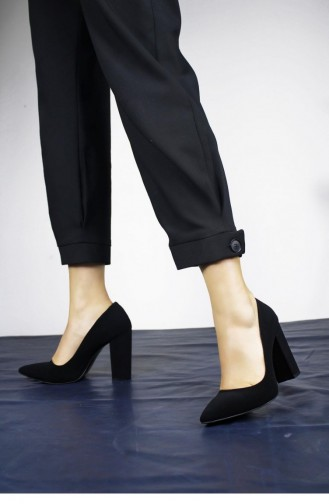 Black High-Heel Shoes 00008.SIYAHVELVET