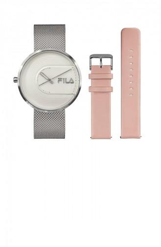 Silver Gray Wrist Watch 38-178-001SETB