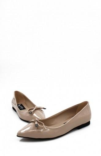 Skin color Woman Flat Shoe 00260.TEN