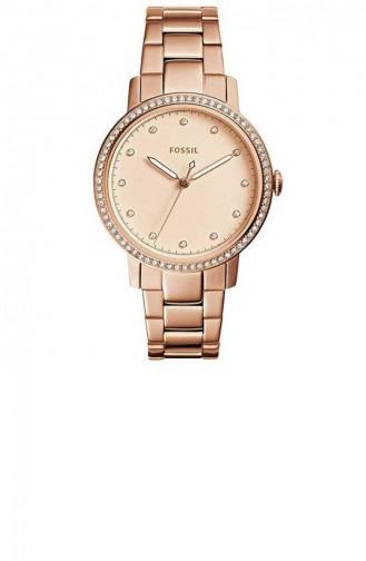 Rose Tan Wrist Watch 4288