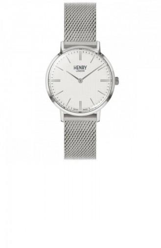 Silver Gray Wrist Watch 34-M-0375