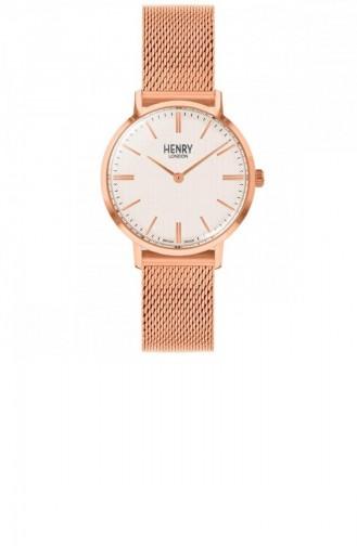 Rose Tan Wrist Watch 34-M-0376