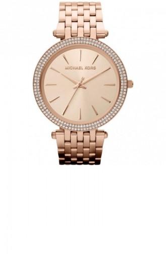 Rose Tan Wrist Watch 3192