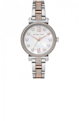 Silver Gray Wrist Watch 4458