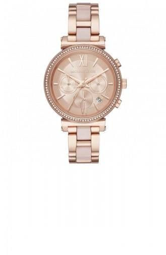 Rose Tan Wrist Watch 6560