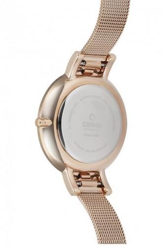 Rose Tan Wrist Watch 158LEVWMV