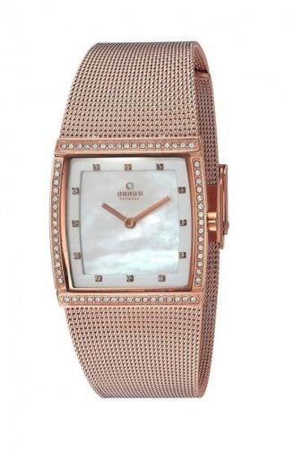 Rose Tan Wrist Watch 172LEVWMV