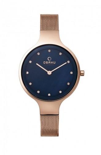 Rose Tan Wrist Watch 173LXVLMV