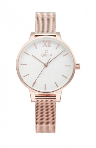 Rose Tan Wrist Watch 209LXVIMV