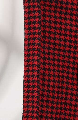 معطف طويل أحمر كلاريت 2028-02