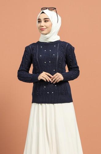 Navy Blue Sweater 1215-05