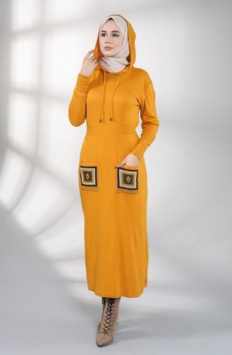 Robe Hijab Moutarde 6002-02