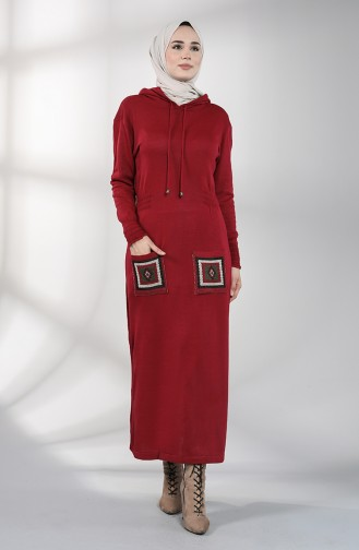 Robe Hijab Bordeaux 6002-03