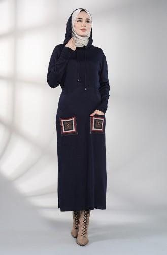 Robe Hijab Bleu Marine 6002-06
