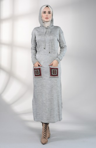 Grau Hijap Kleider 6002-07